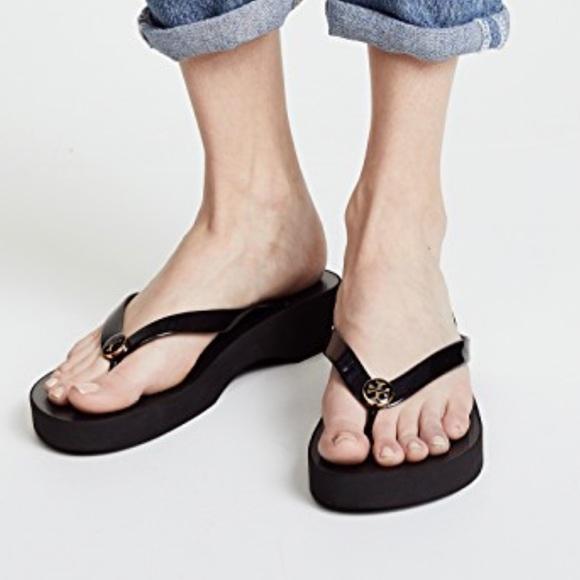 5c1e107dcc Tory Burch Shoes | New Wedge Flip Flops | Poshmark